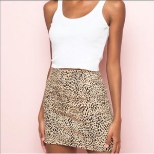 Brandy Melville cheetah skirt